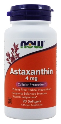 NOW Foods - Astaxanthin Cellular Protection 4 mg. - 90 Softgels