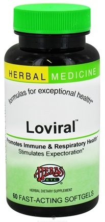 DROPPED: Herbs Etc - Loviral Professional Strength Alcohol Free - 60 Softgels CLEARANCE PRICED