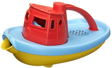 DROPPED: Green Toys - My First Tugboat 6 months+ Red - CLEARANCE PRICED