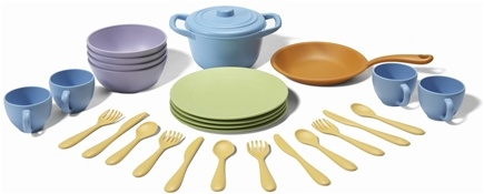 DROPPED: Green Toys - Cookware and Dining Set Ages 2+ - CLEARANCE PRICED