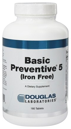 Douglas Laboratories - Basic Preventive 5 Iron-Free - 180 Tablets