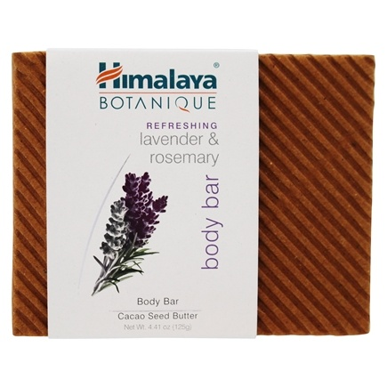 DROPPED: Botanique by Himalaya - Handcrafted Cleansing Bar Soap with Natural Vitamin E Refreshing Lavender & Rosemary - 4.41 oz. CLEARANCE PRICED