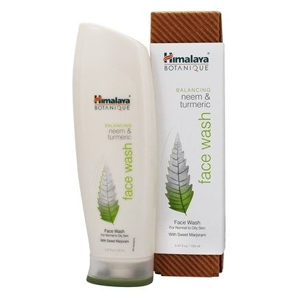 Botanique by Himalaya - Face Wash with Natural Vitamin E for Normal to Oily Skin Neem & Turmeric - 5.07 oz. Formerly Organique by Himalaya