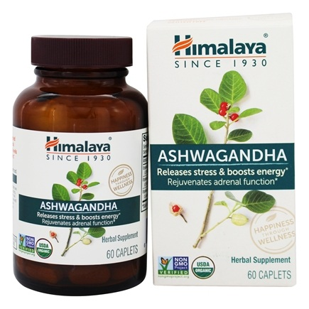 Himalaya Herbal Healthcare - Ashwagandha Anti-Stress & Energy - 60 Caplets LUCKYPRICE