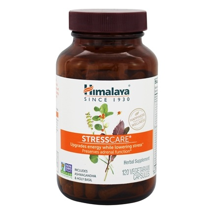 Himalaya Herbal Healthcare - StressCare Geriforte for Energy & Adrenal Support - 120 Vegetarian Capsules