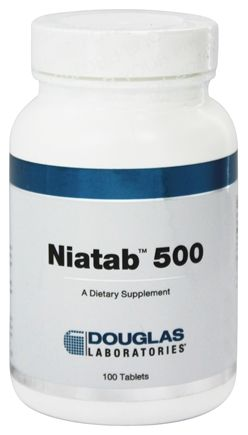 DROPPED: Douglas Laboratories - Niatab 500 - 100 Tablets