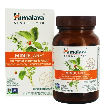 Himalaya Herbal Healthcare - MindCare Mentat for Mental Alertness - 60 Vegetarian Capsules