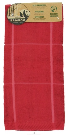 DROPPED: Kane Industries - Bamboo Box Sheared Kitchen Towel Red - CLEARANCE PRICED