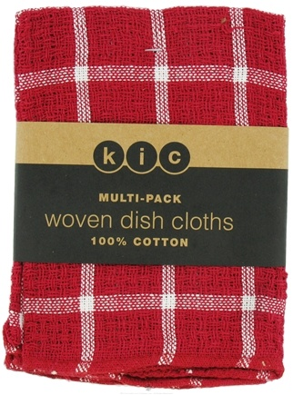 DROPPED: Kane Industries - Woven Plaid Dish Cloth Red - 3 Count