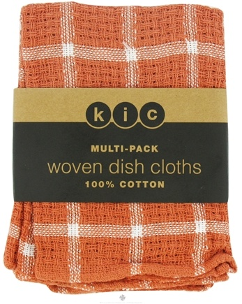 DROPPED: Kane Industries - Woven Plaid Dish Cloth Spice - 3 Count