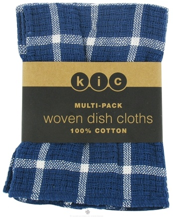 DROPPED: Kane Industries - Woven Plaid Dish Cloth Bijou Blue - 3 Count
