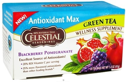 DROPPED: Celestial Seasonings - Antioxidant Max Green Tea Blackberry Pomegranate - 20 Tea Bags