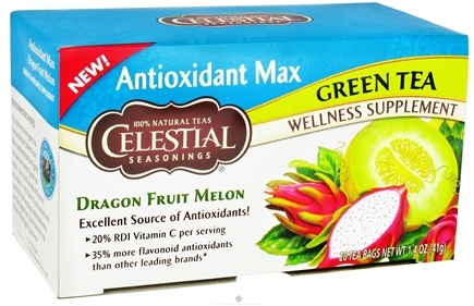 DROPPED: Celestial Seasonings - Antioxidant Max Green Tea Dragon Fruit Melon - 20 Tea Bags