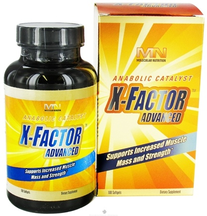 DROPPED: Molecular Nutrition - X-Factor Advance Anabolic Catalyst - 100 Softgels
