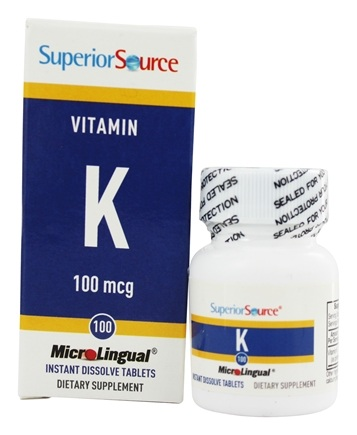 Superior Source - Vitamin K Instant Dissolve 100 mcg. - 100 Tablets