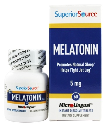 Superior Source - Melatonin Instant Dissolve 5 mg. - 60 Tablets