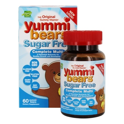 Hero Nutritionals Products - Yummi Bears Sugar Free Children's Complete Multi-Vitamin - 60 Gummies