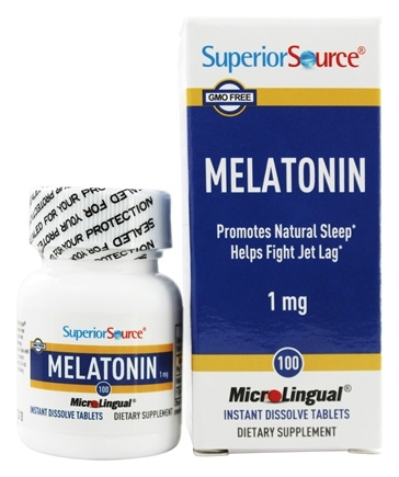 Superior Source - Melatonin Instant Dissolve 1 mg. - 100 Tablets