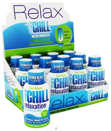 DROPPED: Mini Chill - Relaxation Natural Stress Relief Shot Berry Bliss - 2 oz. CLEARANCE PRICED