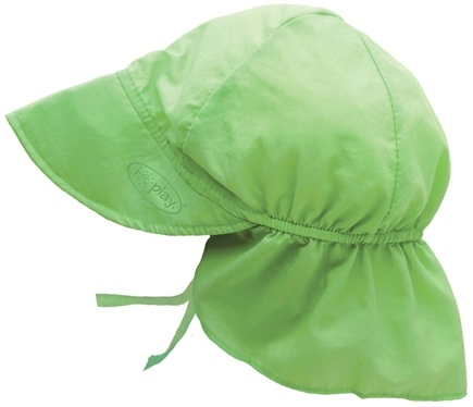 DROPPED: Green Sprouts - Solid Flap Sun Protection Hat Toddler 2-4 Years Lime Green - CLEARANCE PRICED