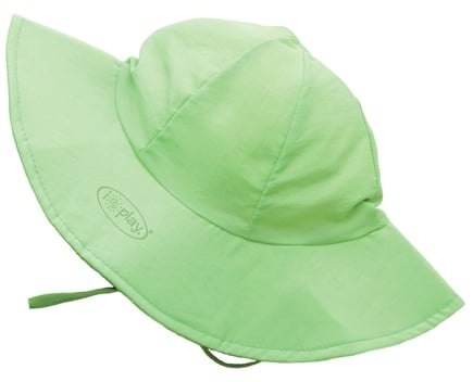 DROPPED: Green Sprouts - Solid Brim Sun Protection Hat Newborn 0-6 Months Lime Green - CLEARANCE PRICED