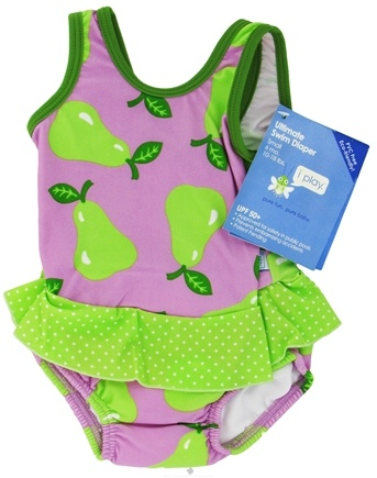 DROPPED: Green Sprouts - Skirt Tanksuit with Ultimate Swim Diaper Small 6 Months 10-18 lbs. Lavender Pear - CLEARANCE PRICED