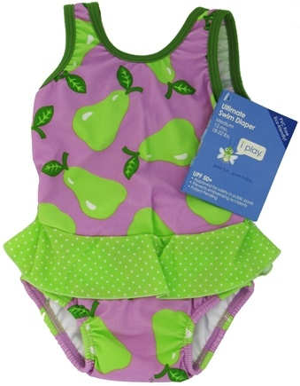 DROPPED: Green Sprouts - Skirt Tanksuit with Ultimate Swim Diaper Medium 12 Months 18-22 lbs. Lavender Pear - CLEARANCE PRICED