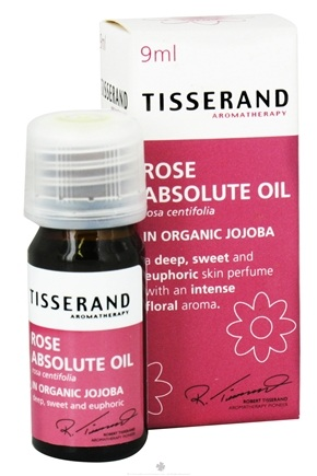 DROPPED: Tisserand Aromatherapy - Skin Perfume Rose Absolute Oil in Organic Jojoba - 0.32 oz. CLEARANCE PRICED