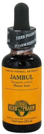 DROPPED: Herb Pharm - Jambul Extract - 1 oz. CLEARANCE PRICED