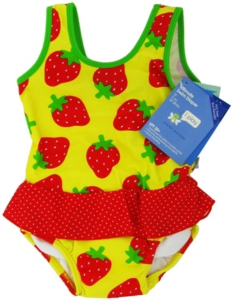 DROPPED: Green Sprouts - Skirt Tanksuit with Ultimate Swim Diaper 3T 3 yrs. 30-38 lbs. Yellow Strawberry - CLEARANCE PRICED