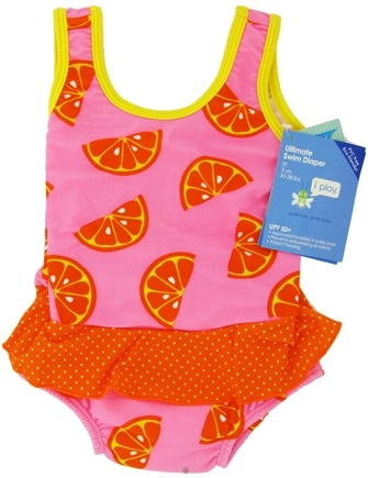 DROPPED: Green Sprouts - Skirt Tanksuit with Ultimate Swim Diaper 3T 3 yrs. 30-38 lbs. Light Pink Orange - CLEARANCE PRICED