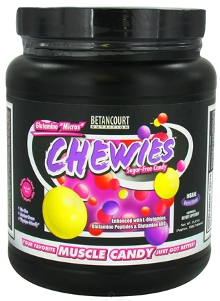 DROPPED: Betancourt Nutrition - Chewies Glutamine Micros Sugar-Free Insane Berry Blend - 1080 Tablets CLEARANCE PRICED