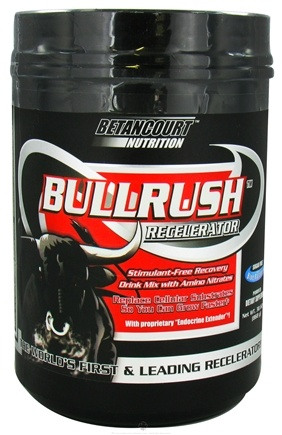 DROPPED: Betancourt Nutrition - Bullrush Recelerator Sugar Free Blue Raspberry - 30.62 oz. CLEARANCE PRICED