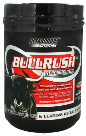 DROPPED: Betancourt Nutrition - Bullrush Recelerator Sugar Free Fruit Punch - 30.62 oz. CLEARANCE PRICED