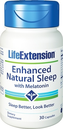 Life Extension - Enhanced Natural Sleep with Melatonin - 30 Capsules