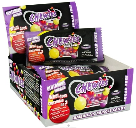 DROPPED: Betancourt Nutrition - Chewies Glutamine Micros Sugar-Free Insane Berry Blend - 1 Packet CLEARANCE PRICED