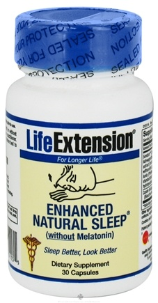 DROPPED: Life Extension - Enhanced Natural Sleep without Melatonin - 30 Capsules CLEARANCE PRICED