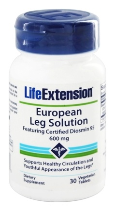 Life Extension - European Leg Solution Featuring Certified Diosmin 95 600 mg. - 30 Vegetarian Tablets