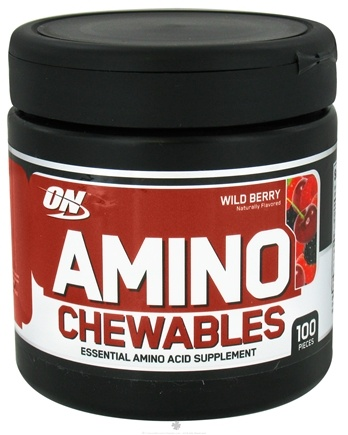 DROPPED: Optimum Nutrition - Amino Chewables Wild Berry - 100 Piece(s)