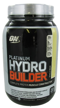 DROPPED: Optimum Nutrition - Platinum Hydro Builder Vanilla Bean - 2.2 lbs. CLEARANCE PRICED