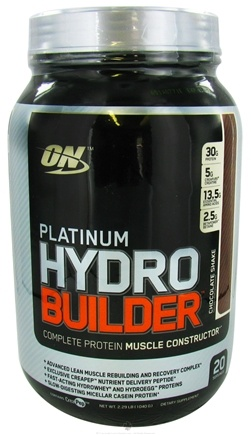 DROPPED: Optimum Nutrition - Platinum Hydro Builder Chocolate Shake - 2.29 lbs.