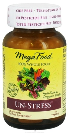 DROPPED: MegaFood - DailyFoods Un-Stress Anti-Stress Organic Herbs - 30 Vegetarian Tablets CLEARANCE PRICED