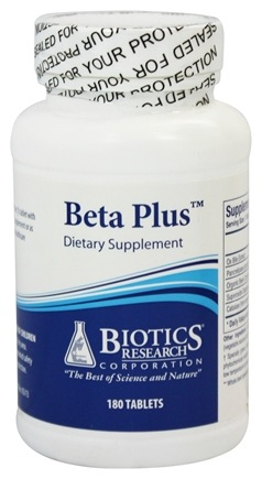Biotics Research - Beta Plus - 180 Tablets