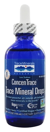 Trace Minerals Research - ConcenTrace Trace Mineral Drops Glass Bottle - 4 oz.