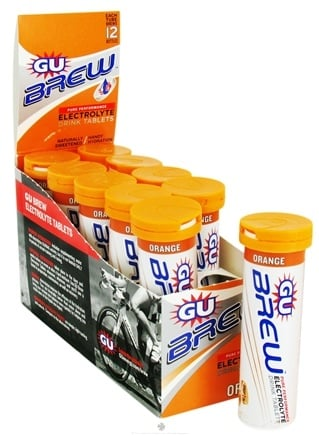 DROPPED: GU Energy - Brew Pure Performance Electrolyte Drink Tablets Orange - 12 Tablets