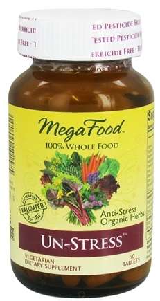 DROPPED: MegaFood - DailyFoods Un-Stress Anti-Stress Organic Herbs - 60 Vegetarian Tablets CLEARANCE PRICED