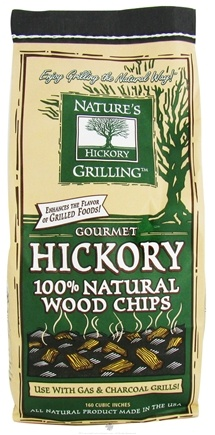 DROPPED: Nature's Grilling Products - 100% Natural Wood Chips Gourmet Hickory - 2 lbs. CLEARANCE PRICED