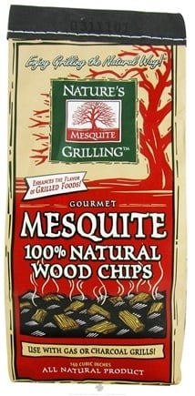 DROPPED: Nature's Grilling Products - 100% Natural Wood Chips Gourmet Mesquite - 2 lbs. CLEARANCE PRICED