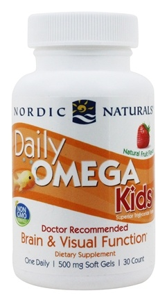 Nordic Naturals - Daily Omega Kids Strawberry 500 mg. - 30 Softgels