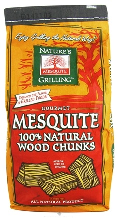 DROPPED: Nature's Grilling Products - 100% Natural Wood Chunks Gourmet Mesquite - 4 lbs. CLEARANCE PRICED